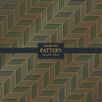 幾何学的な高級ダークゴールデンを振ってラインパターン
