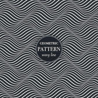 線の幾何学的な抽象的なパターンを振る