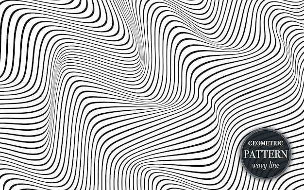抽象的な手を振るラインパターン背景。