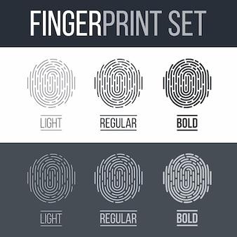 指紋セット