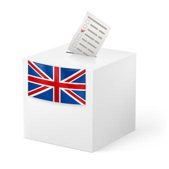 ボイシングペーパー付き投票箱。イギリス。