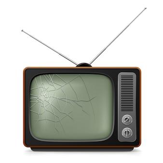 壊れたレトロなテレビ