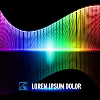 音楽の背景の色
