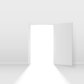 Белая открытая дверь