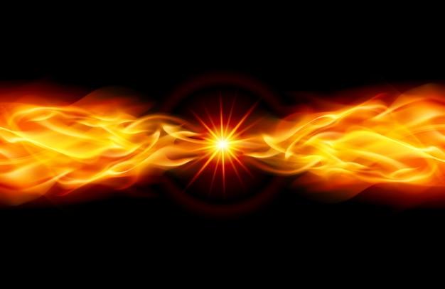 明るい燃えるような星