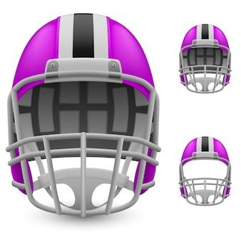 紫のヘルメット