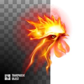 燃えるような黄金の雄鶏