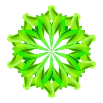 抽象的な緑の図