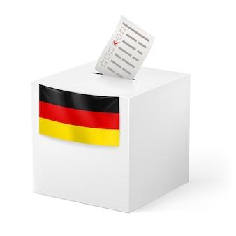 発声紙付き投票箱。ドイツ。