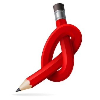 Абстрактный узел карандаша