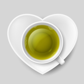 ロマンチックなお茶を飲む