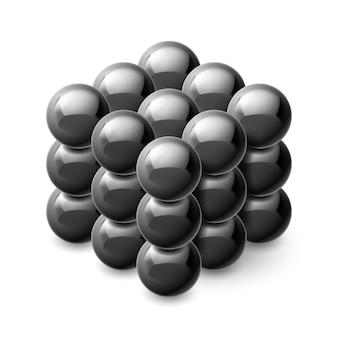 磁気ボールからのキューブ