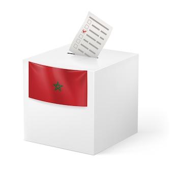 発声紙付き投票箱。モロッコ