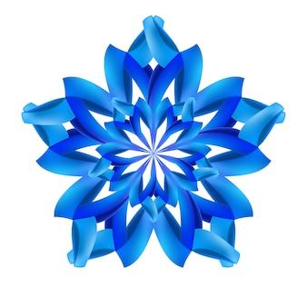 Синий абстрактный узор