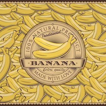 Винтажная этикетка бананов