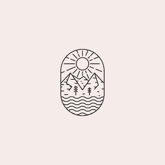 ビンテージ山のロゴ