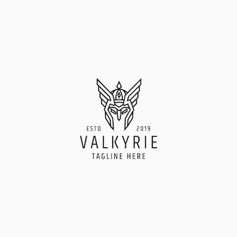 Валькирия логотип дизайн шаблона