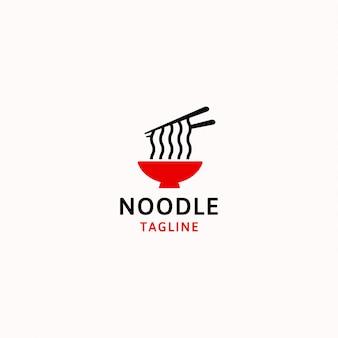 麺のロゴのテンプレートベクトル図
