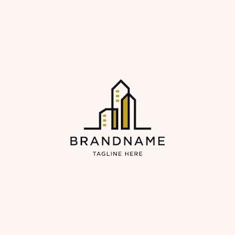 建物のロゴデザインテンプレート