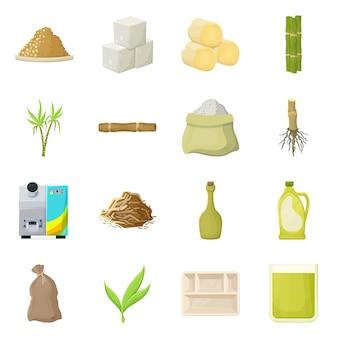 自然と生産のロゴのイラスト。自然と有機のストックイラスト。