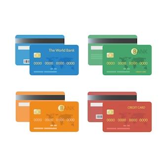 クレジットカード、銀行カード。
