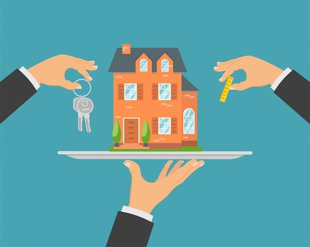 Сделка с недвижимостью, покупка дома.