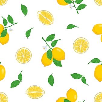 Бесшовные лимоны.