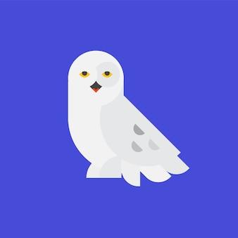 白いフクロウのロゴ