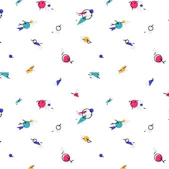 布の抽象、前衛的なパターン