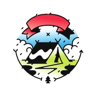 キャンプや旅行のためのロゴ