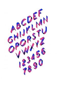 Объем шрифта