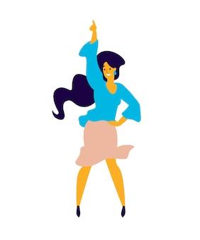 陽気なダンスの女の子。