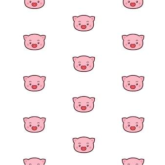 Свинья голова шаблон.