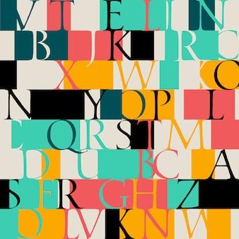 Цветной рисунок с классическим неровным шрифтом