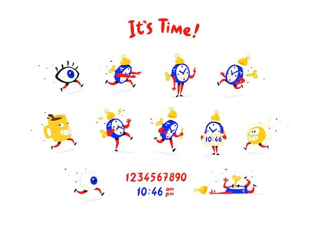 漫画のキャラクターの目覚まし時計