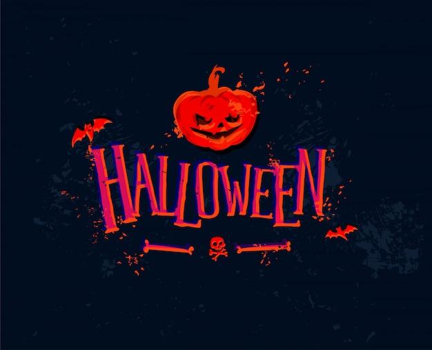 Иллюстрация к празднику хэллоуина. вектор.
