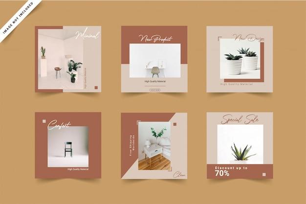 Архитектура минималистский социальные медиа шаблон пост