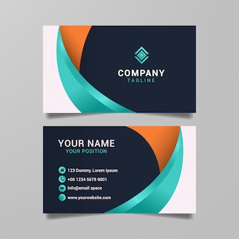 Творческий шаблон визитной карточки