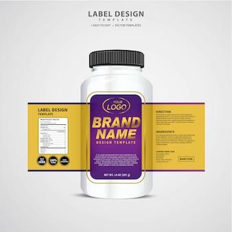 Этикетка для бутылки, дизайн шаблона упаковки, дизайн этикетки, макет шаблона дизайна этикетки