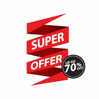 Продажа, специальное предложение и дизайн ленты цены