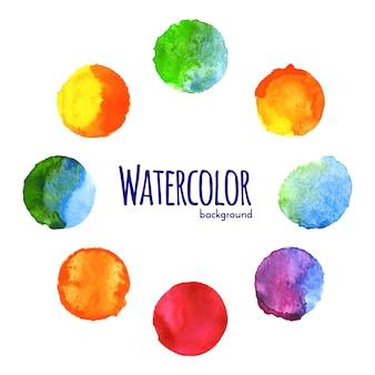 カラフルな水彩サークル