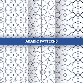 Коллекция орнаментов в арабском исламском стиле