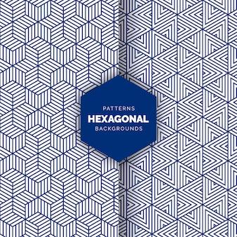 青い抽象的な三角形のシームレスパターン