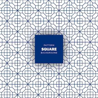 青い抽象的な正方形のシームレスな幾何学模様