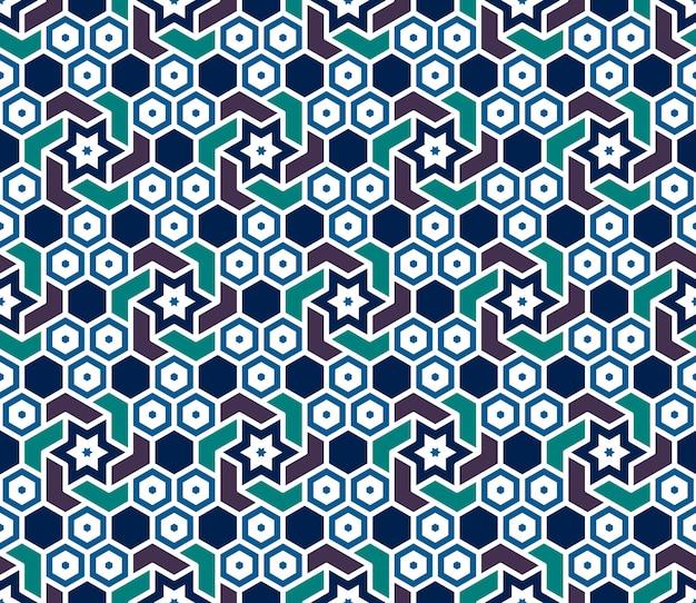 Геометрический рисунок в исламском стиле.