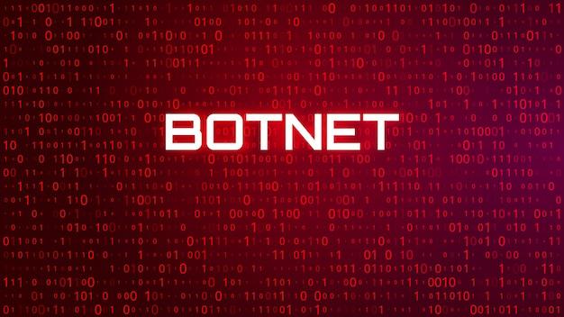 ハイテクバイナリコード赤背景。