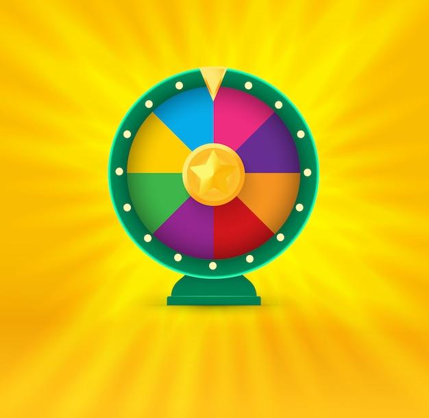 Колесо фортуны. логотип азартных игр.