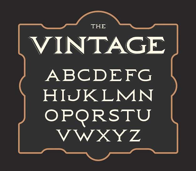 ビンテージ文字のセット。