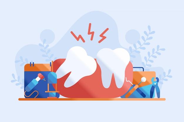 Иллюстрация зубов мудрости