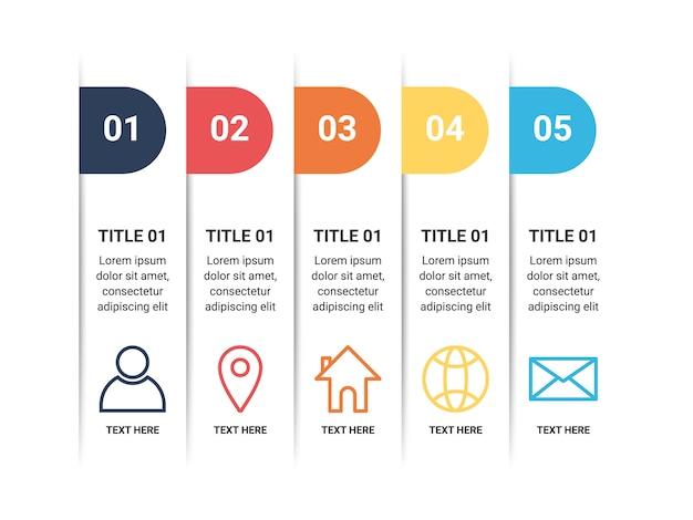 Дизайн шаблона элемента инфографики